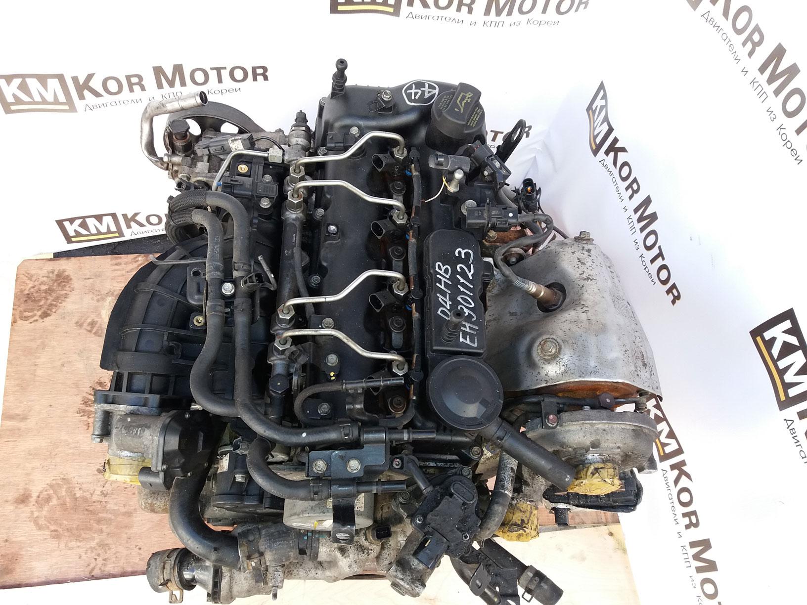 Фото двигателя D4HB дизель 2.2 Hyundai SantaFE  137F12FU00, 153F12FU00B, 153F12FU00A